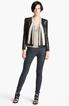 Evolution Leather Jacket - Lyst