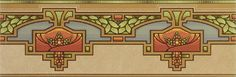 Bradbury Craftsman Style Home Design | Arcadia Wallpaper Border in Natural