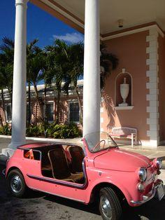 White Columns and a Pink Convertible | Frances Schultz