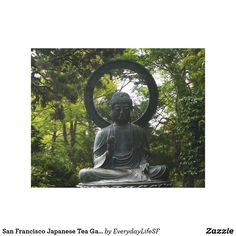 San Francisco Japanese Tea Garden Buddha Canvas