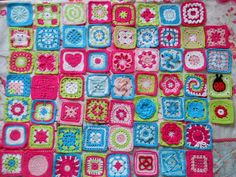 She is making several hundred different squares and has links to the patterns.