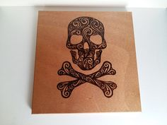 Abstract skeleton head pyrography photo for by WoodBurningStudio