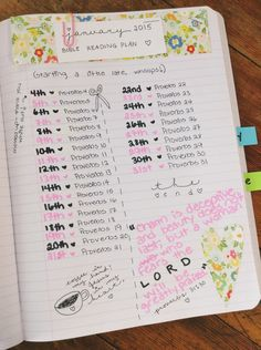 January 2015 Bible reading plan for faith journaling! #littlefaithbook