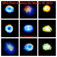 """UFO activity appears near Area 51 : The Canadian National Newspaper - UFO activity was reported in Arizona near Area 51 on 19 March 2013.  Scott Waring who edits UFO Sightings Daily made the following observation.  """"Area 51 is notorious for its UFOs that have been seen there for decades, so much so they call the freeway that drives past it Extraterrestrial Highway. This guy caught a UFO orb that changes colour near Area 51 on a mountain top at Kingman, Arizona."""