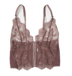 Lonely Hearts Leavers Lace longline bra - Taupe (mine is Ivory)