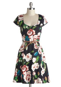 Retreat to the Rose Garden Dress | Mod Retro Vintage Dresses | ModCloth.com