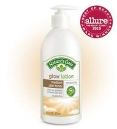 Nature's Gate Glow Lotion, medium skin tones, 16 Ounce Bottle