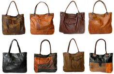 Uptown Redesigns - Upcycled Leather Bags - made from leather coats in New Orleans!