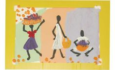 African Life with stick figure painting showing action Art for Creative Kids