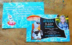 olaf birthday party. olaf birthday pool party. olaf pool party. olaf girls party. olaf summertime. olaf pool. olaf invitations