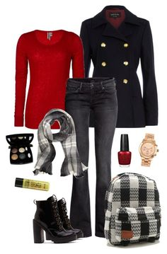 """""""All buttoned up."""" by the-hourglass ❤ liked on Polyvore featuring River Island, BKE, H&M, Brooks Brothers, Vans, Jeffrey Campbell, C.O. Bigelow, OPI, Michael Kors and Chanel"""