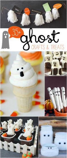 35+ Adorable Ghost Crafts and Treats | roundup via lollyjane.com