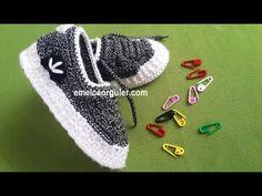 Örgü Bebek Patik Modeli - YouTube Crochet Bebe, Knit Crochet, Baby Staff, Crochet Shoes, Sewing Techniques, Baby Knitting, Free Pattern, Diy And Crafts, Adidas Sneakers
