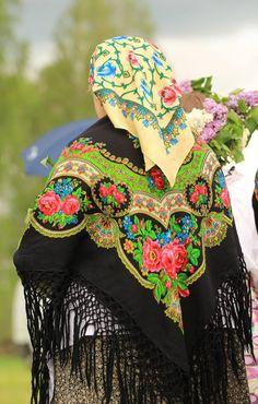 Traditional scarfs - Polish countryside.