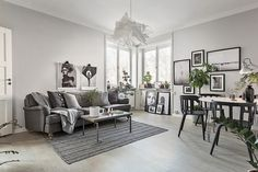 Grey toned living room