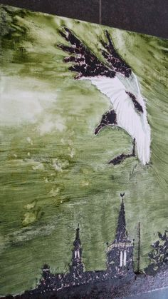 Algae painting made with Seaweed, spirulina, floating pond algae and bladder wrack. Made by designer Nicole Spit, 2017