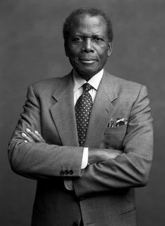 Sydney Poitier. There's something beautiful about black and white http://www.islandorigins.tv