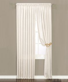 Look at this #zulilyfind! Off-White Crushed Satiny Silk Panel - Set of Two #zulilyfinds