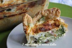 Quiche con broccoli I manicaretti di nonna Lella http://blog.giallozafferano.it/graziagiannuzzi/quiche-con-broccoli/