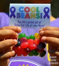 "Relay For Life ""Cool Beans!"" Prize Idea - Free Printable Treat Bag Label"