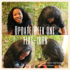 One Week Flat-Iron Natural Hair Update Edit3 Aug, 2015 in  Flat Iron  /  Hair Care  /  Natural Hair Care tagged  flat iron  /  hair styles for little girls  /  natural black hair  /  natural hair care   by Shaunic         One Week Flat-Iron Natural Hair Update Edit