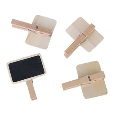 """10Pcs Cute Mini Message Wooden Blackboard Note Photo Paper Clips, Ideal for Decor Use: Amazon.co.uk: Office Products. For the """"farmers market"""" food table"""