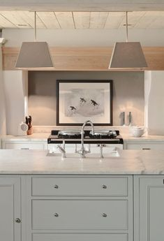 Contemporary - straight lines +soft colors +light wood + Shaker style cabinets+ marble countertops Neptune Kitchen ? Kitchen Interior, Kitchen Design, Kitchen Decor, Kitchen Ideas, Home Interior, Interior Paint, Neptune Kitchen, Neptune Bathroom, Shaker Style Cabinets