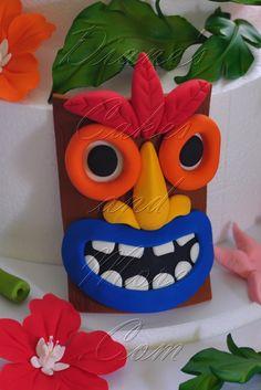 Gum Paste Tiki Mask Cake Topper - Diane's Cakes