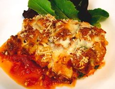 The End of Chicken Parmesan As You Know It - made like a casserole, chicken and sauce, topped with a crispy, crunchy, layer of cheese and croutons - better than any traditional chicken parmesan!