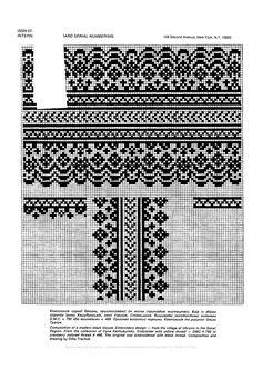 "Photo from album ""Сокальська вишивка"" on Yandex. Blackwork Embroidery, Cross Stitch Embroidery, Embroidery Patterns, Cross Stitch Patterns, Knitting Charts, Lace Knitting, Knitting Stitches, Pillowcase Pattern, Monochrom"