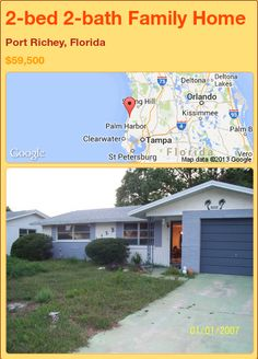 2-bed 2-bath Family Home in Port Richey, Florida ►$59,500 #PropertyForSale #RealEstate #Florida http://florida-magic.com/properties/83112-family-home-for-sale-in-port-richey-florida-with-2-bedroom-2-bathroom