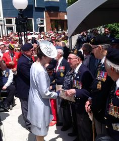 """Honour100 on Twitter: """"The Princess Royal meets with veterans on the Day of Remembrance #BeaumontHamel"""