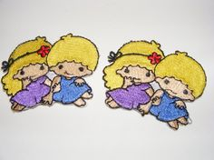 Little Twin Stars Lot of 2 Embroidered Iron On Sew by LoveLaly