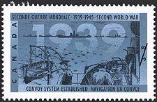 Canadian Postal Archives Database    Postal Administration: Canada     Title: Convoy System established     Denomination: 38¢     Date of Issue: 10 November 1989