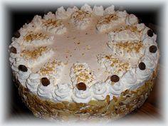 Oroszkrém torta Hungarian Recipes, Hungarian Food, Cake Cookies, Tiramisu, Camembert Cheese, Food And Drink, Cooking Recipes, Sweets, Ethnic Recipes