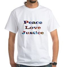 Repin to show your friends. Share the gift of Peace, Love and Justice with this inspiring christian t-shirt. Click VISIT to view more, add us and get inspired to walk on water at DivineInspirationsGalore.