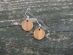 Bamboo Knitting Earrings