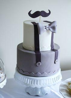 Boy Shower Cake | Mustache Cake | Baby Shower