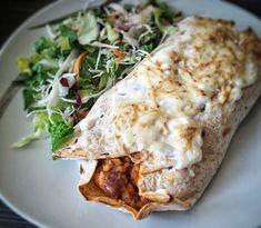 Tortilla Burrito, Food Tags, Chicken Wraps, Burritos, Enchiladas, Hamburger, Bacon, Recipies, Food And Drink