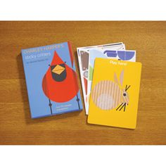 Re-create the whimsical geometric animal art of Charley Harper--or mix and match to discover your own creatures! This creative kit shows you how to make an owl, a fish, a koala--twelve different adorable critters using more than 170 durable, reusable, vinyl stickers. The boxed set includes six sheets of peel-and-stick shapes, a double-sided board upon which to stick them (they also stick to glass), and a booklet illustrating the different designs. Challenge yourself to assemble the critters with