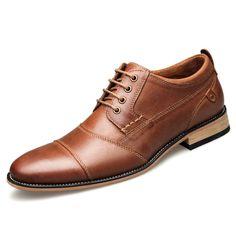 63c5304782 US 54.50 - Large Size Men Genuine Leather Non-slip Business Formal Dress  Shoes Sapatos