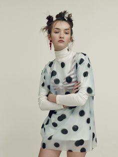"""Rave On"" (Glamour UK July 2015)   Model: Angela Longton. Photographer: Nicolas Kantor. Fashion Editor: Natasha Wray. Hair: Mirka Hajdova. Make-up: Akgun Manisali."