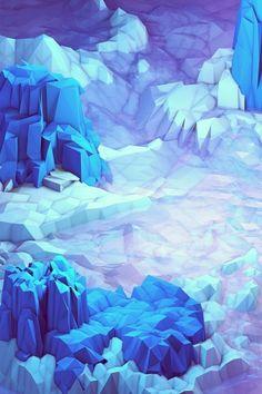 Purple Ice Age Illustration iPhone 5 Wallpaper