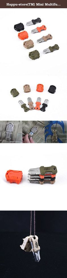 Happu-store(TM) Mini Multifunction EDC Self Defense Survival Tool Molle Webbing Pocket Knife. Material: Stainless Steel and plastic (one side is notched blade) Color: Sand, Orange, Black, Army Green Size: 7.5cm x 3.5cm x 1.5cm(approx) A practical item in your daily life, such as camping and other outdoor activities. Easy to carry with mini size and lightweight. Convenient to carry with a rope and can be hung around the neck, for emergency use. Package Included: Mini portable knife x 1…