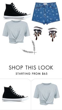 """Untitled #404"" by ikgidda ❤ liked on Polyvore featuring Converse, T By Alexander Wang and Valentino"