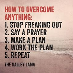 The secret to overcoming anything- repeat any step as needed!  #focused #perseverance