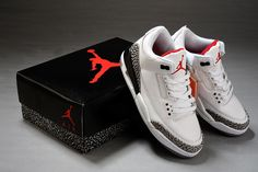 best service e3183 b03e2 Air Jordan 3 Retro White Fire Red-Cement Grey-Black 2011 Free Shipping