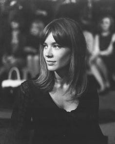 center parted bangs | Françoise Hardy More