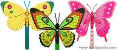 Summer Butterfly Fan craft