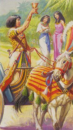 Le cavalier de coupes - Ramsès : Tarot de l'éternité par Severino Baraldi
